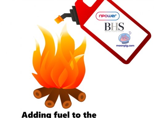 Irrelevance & Ignorance? NPower, BHS & Moonpig add fuel to the CX Fire!