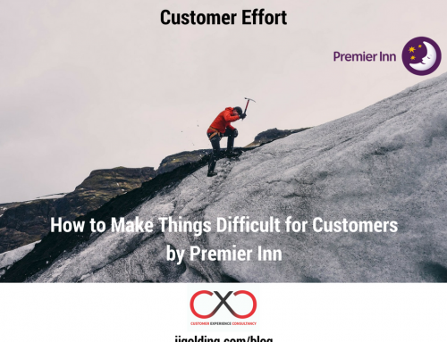 Customer Effort: How to Make Things Difficult for Customers, by Premier Inn