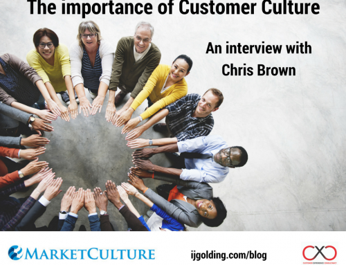 The importance of customer culture – an interview with Chris Brown