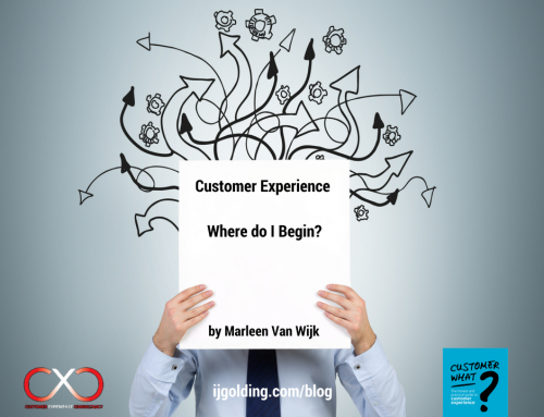 Customer Experience: Where do I Begin? by Marleen Van Wijk