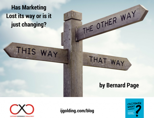 Has Marketing lost its way or is it just changing? A perspective by Bernard Page