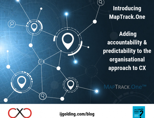 Introducing MapTrack.One: Adding accountability & predictability to the organisational approach to CX
