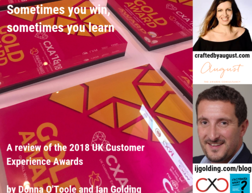 Sometimes you win, sometimes you learn – a review of the 2018 UK Customer Experience Awards