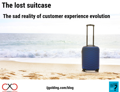 The lost suitcase – the sad reality of customer experience evolution